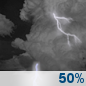 Thursday Night: Chance Showers And Thunderstorms